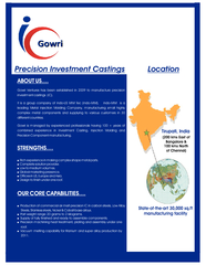 recision Investment Castings L ocation ABOUT US
