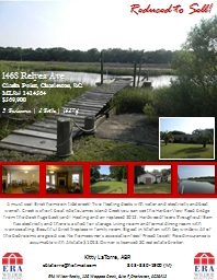 Reduced to Sell! A must see! Brick home on tidal creek! Two floating docks with water and electrici