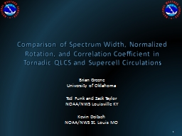 Comparison  of  Spectrum Width, Normalized Rotation, and Correlation Coefficient in