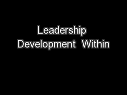 Leadership Development  Within