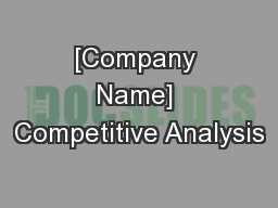 [Company Name] Competitive Analysis