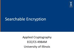 Searchable Encryption Applied Cryptography