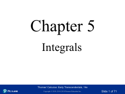 Chapter 5 Integrals Section 5.1