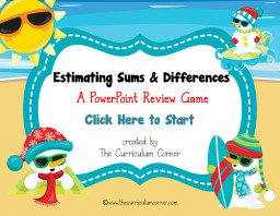 Estimating Sums & Differences PowerPoint PPT Presentation