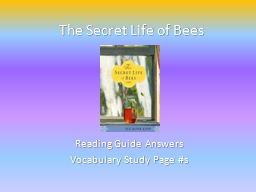 The Secret Life of Bees Reading Guide Answers