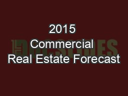 2015 Commercial Real Estate Forecast