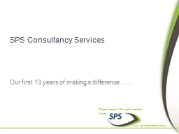 SPS Consultancy Services