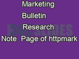 Marketing Bulletin     Research Note  Page of httpmark