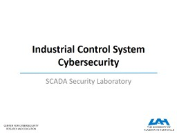 Industrial Control System Cybersecurity