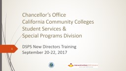 Chancellor's Office  California Community Colleges