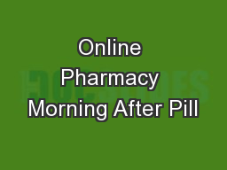Online Pharmacy Morning After Pill