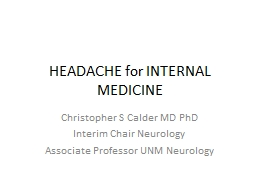 HEADACHE for FAMILY  MEDICINE