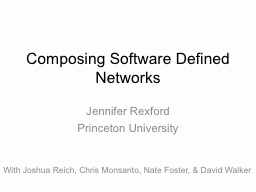 Composing Software  Defined