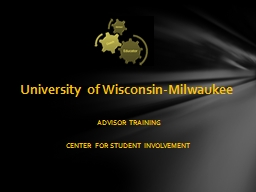 ADVISOR TRAINING CENTER FOR STUDENT INVOLVEMENT