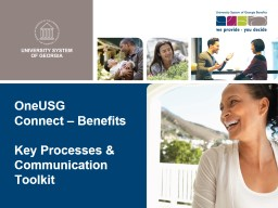 OneUSG  Connect – Benefits PowerPoint PPT Presentation