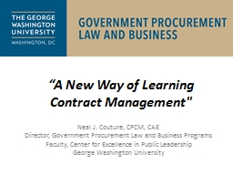 """A New Way of Learning Contract Management"
