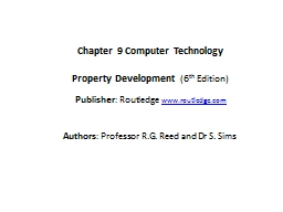Chapter  9  Computer  Technology PowerPoint PPT Presentation