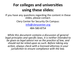 For colleges and universities