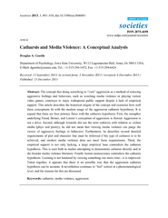 Societies  societies ISSN  Article Catharsis and Media