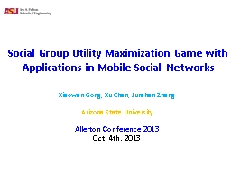 Social Group Utility Maximization Game with Applications in Mobile Social