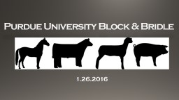 Purdue University Block & Bridle