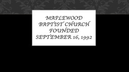 Maplewood Baptist Church
