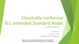Classically conformal  B-L