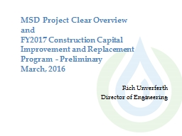 MSD Project  Clear Overview