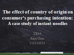 The effect of country of origin on consumer's purchasing intention: