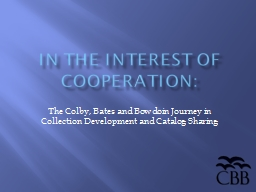 In the Interest of Cooperation