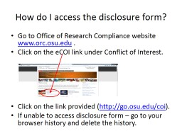 How do I access the disclosure form?