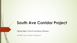 South Ave Corridor  Project