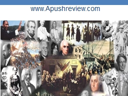 www.Apushreview.com APUSH Review: The Corrupt Bargain