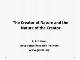 The Creator of Nature and the Nature of the Creator