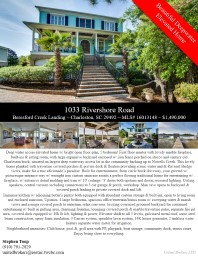 1033 Rivershore Road Beresford Creek Landing ~ Charleston, SC 29492 ~ MLS# 16013148 ~ $1,490,000