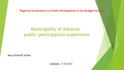 Regional Conference on Public Participation in the Budget Process