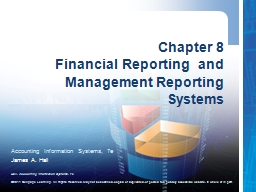 Chapter 8  Financial Reporting  and