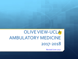 OLIVE VIEW-UCLA AMBULATORY MEDICINE