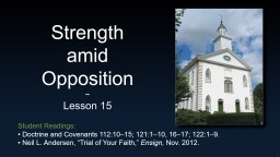 Strength  amid  Opposition
