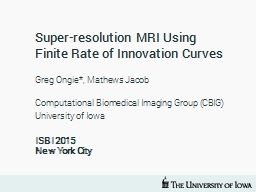 Super-resolution MRI Using Finite Rate of Innovation Curves