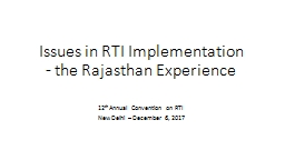 Issues in RTI Implementation
