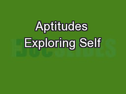 Aptitudes Exploring Self