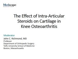 The Effect of Intra-Articular Steroids on Cartilage in