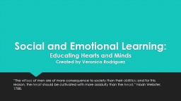 Social and Emotional Learning:
