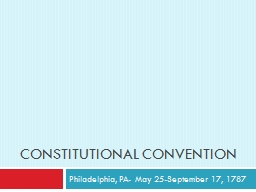 Standard: 8-3.2 Constitutional Convention
