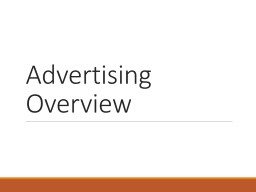 Advertising Overview Types of paid ads