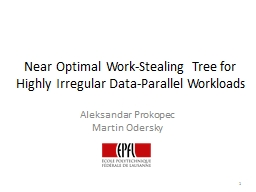 Near Optimal Work-Stealing Tree for Highly Irregular Data-Parallel Workloads