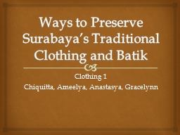 Ways to Preserve Surabaya's