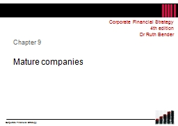 Chapter 9 Mature companies