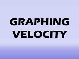 GRAPHING VELOCITY How do you see velocity on a graph?